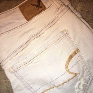 AEO Distressed Super Stretch Shorts